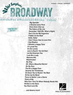 Value Songbooks: Broadway