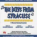 THE BOYS FROM SYRACUSE (1999 New York Recording)
